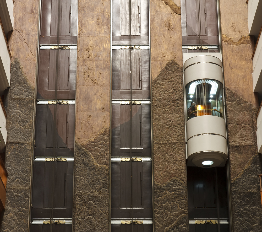 ascensori esterni in vetro